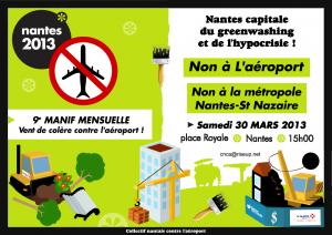 Affiche manif mensuelle Mars 2013